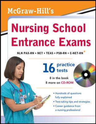 """Picture of book cover for """"Nursing School Entrance Exams"""""""