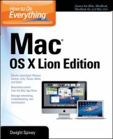 How to Do Everything Mac OS X