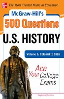 McGraw-Hill's 500 U.S. History Questions