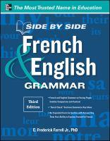 Side by side French & English grammar