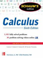 Schaum's Outlines: Calculus