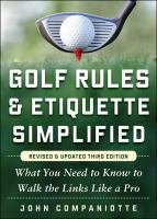 Golf Rules & Etiquette Simplified