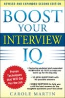 Boost your Interview IQ