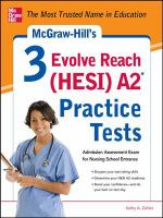 Mcgraw-Hill's 3 Evole Reach (Hesi) A2 Practice Tests