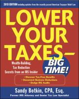Lower your Taxes--big Time!