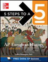 AP European History, 2014-2015
