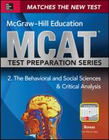 McGraw-Hill Education MCAT Behavioral and Social Sciences & Critical Analysis 2015