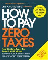 How to Pay Zero Taxes, 2015