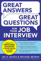 Image: Great Answers, Great Questions for your Job Interview