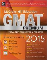 Mcgraw Hill Education GMAT Premium 2015