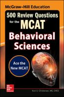 500 Review Questions for the MCAT