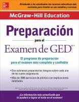 McGraw Hill Education preparación para el examen de GED