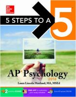 AP Pychology, 2016