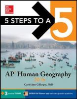 Ap Human Geography 2016