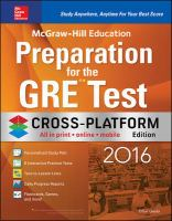 Preparation for the GRE Test