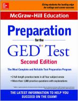 Preparation for the GED Test