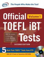 Official TOEFL IBT® Tests