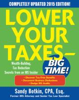 Lower your Taxes Big Time!