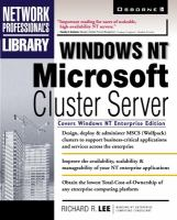 Windows NT Microsoft Cluster Server