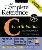 C, the Complete Reference