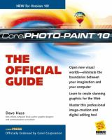 The Official Guide to Corel Photo-paint 10