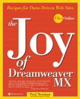 The Joy Of Dreamweaver MX