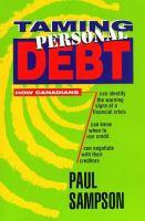 Taming Personal Debt