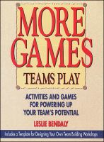 More Games Teams Play