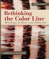 Rethinking The Color Line (5th)