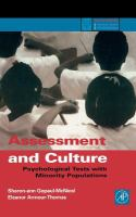 Assessment and Culture