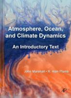 Atmosphere, Ocean, and Climate Dynamics
