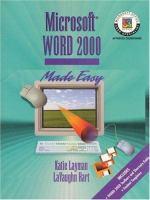 Microsoft Word 2000 Made Easy