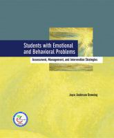Students With Emotional and Behavioral Problems