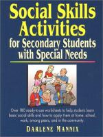 Social Skills Activities for Secondary Students With Special Needs