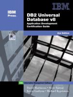DB2 Universal Database V8 Application Development Certification Guide, 2nd Edition