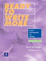 Ready to Write More