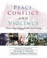 Peace, Conflict, and Violence