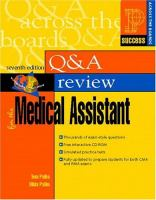 Prentice Hall Health Q & A Review For The Medical Assistant