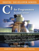 C# for Programmers/ Harvey M. Deitel, Paul J. Deitel