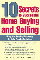 10 Secrets to Successful Homebuying and Selling