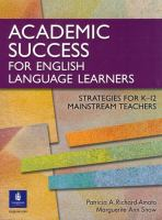 Academic Success for English Language Learners
