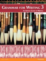 Grammar for Writing 3