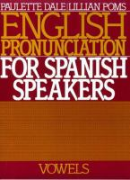 English Pronunciation for Spanish Speakers