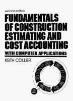 Fundamentals of Construction Estimating and Cost Accounting