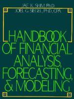 Handbook of Financial Analysis, Forecasting & Modeling