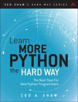Learn More Python 3 the Hard Way