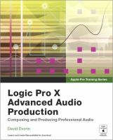 Logic Pro X Advanced Audio Production