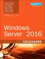 Windows Server 2016 Unleashed