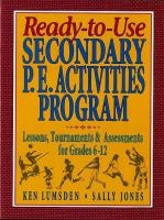 Ready-to-use Secondary P.E. Activities Program
