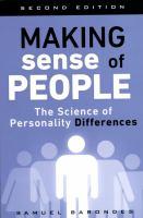 Making Sense of People